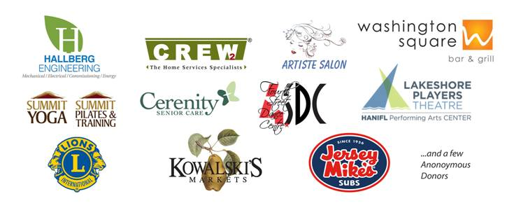 Sponsor logos for fundraiser dance